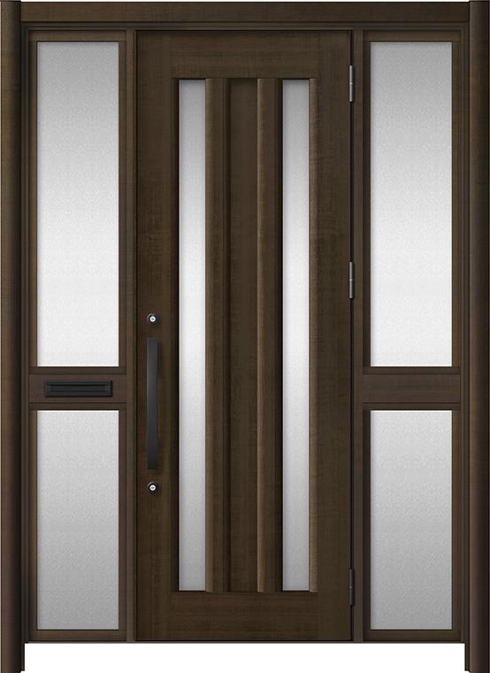 玄関ドア リシェント3 アルミ仕様 C16N型 両袖中桟付ポスト付ドア W:1,400~1,895mm × H:1,738~2,038mm LIXIL リクシル TOSTEM トステム