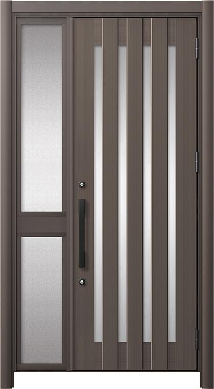 玄関ドア リシェント3 アルミ仕様 C17N型 片袖中桟付ポスト無 W:1,013~1,446mm × H:2,039~2,438mm リクシル トステム