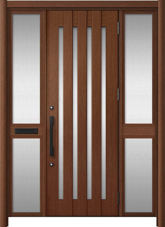 玄関ドア リシェント3 アルミ仕様 C17N型 両袖中桟付ポスト付ドア W:1,400~1,895mm × H:2,039~2,438mm LIXIL リクシル TOSTEM トステム