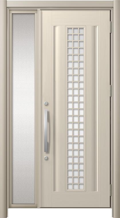 玄関ドア リシェント3 アルミ仕様 C20N型(ガラス別途) 片袖ドア W:872~1,446mm × H:1,738~2,038mm LIXIL リクシル TOSTEM トステム