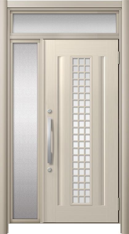 玄関ドア リシェント3 アルミ仕様 ランマ付 C20N型(ガラス別途) 片袖ドア W:872~1,446mm × H:1,973~2,300mm LIXIL リクシル TOSTEM トステム
