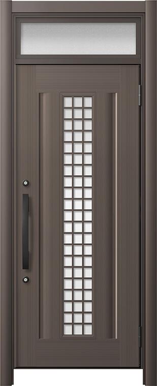 玄関ドア リシェント3 アルミ仕様 ランマ付 C20N型(ガラス別途) 片開きドア W:738~977mm × H:2,301~2,600mm LIXIL リクシル TOSTEM トステム