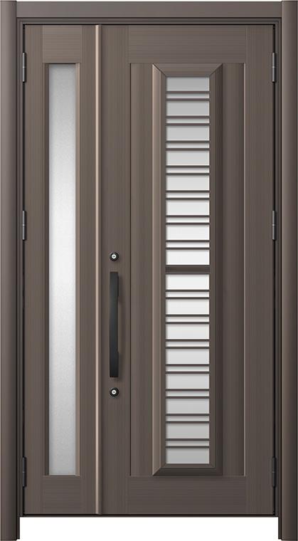 玄関ドア リシェント3 アルミ仕様 C83N型(ガラス別途)採風タイプ 親子ドア W:1,039~1,484mm × H:2,039~2,356mm LIXIL リクシル TOSTEM トステム