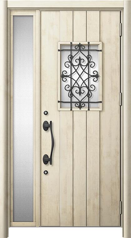 玄関ドア リシェント3 断熱仕様 K2 D41型 片袖ドア W:1,101~1,336mm × H:1,739~2,039mm LIXIL リクシル TOSTEM トステム