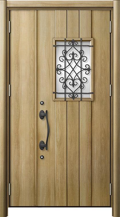玄関ドア リシェント3 断熱仕様 K2 D41型 親子ドア W:978~1,200mm × H:2,040~2,439mm LIXIL リクシル TOSTEM トステム