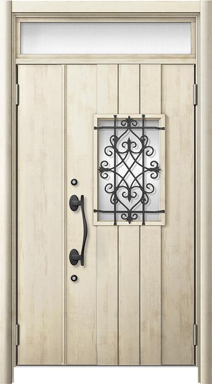 玄関ドア リシェント3 断熱仕様 ランマ付 K4 D41型 親子ドア W:1,201~1,480mm × H:1,974~2,039mm LIXIL リクシル TOSTEM トステム