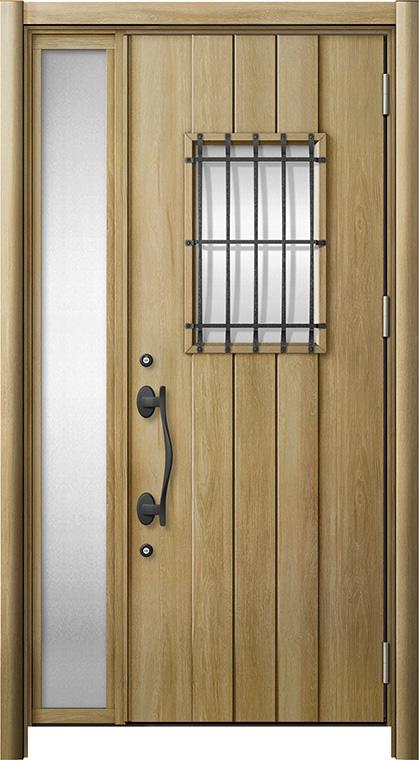 玄関ドア リシェント3 断熱仕様 K2 D44型 片袖ドア W:1,101~1,336mm × H:1,739~2,039mm LIXIL リクシル TOSTEM トステム