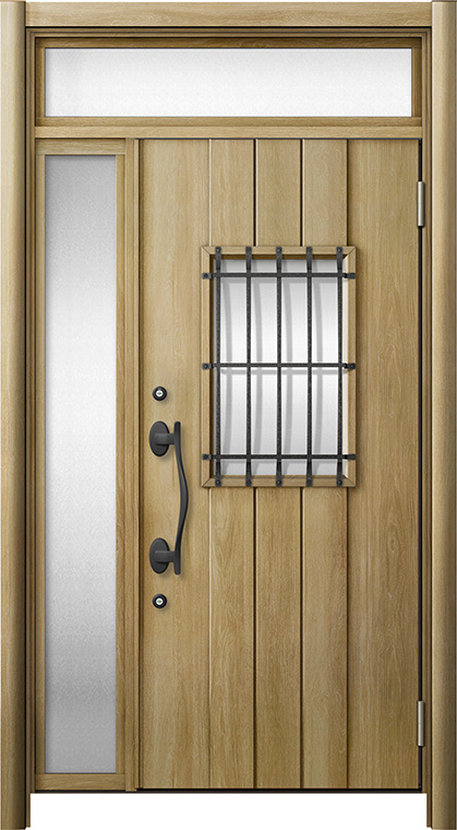 玄関ドア リシェント3 断熱仕様 ランマ付 K4 D44型 片袖ドア W:1,035~1,100mm × H:2,301~2,600mm LIXIL リクシル TOSTEM トステム