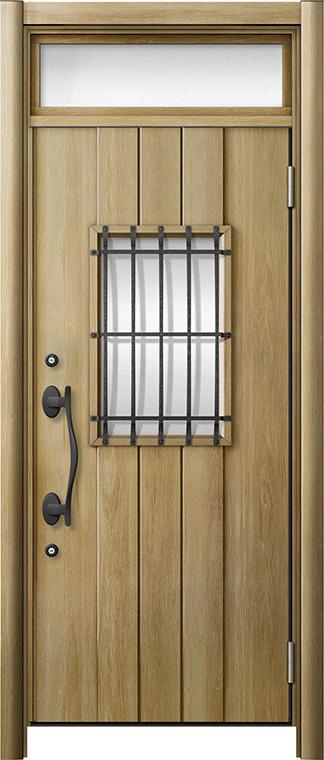玄関ドア リシェント3 断熱仕様 ランマ付 K2 D44型 片開きドア W:901~977mm × H:2,301~2,600mm LIXIL リクシル TOSTEM トステム
