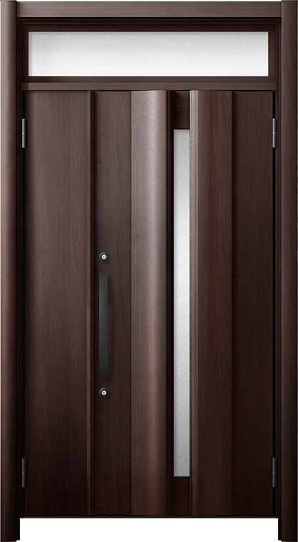 人気ブランドの リシェント 玄関ドア3 断熱仕様 / 非防火 K2 G12型 木目調 親子ランマ付 特注サイズ W:978~1,480mm × H:1,974~2,600mm カバー工法 LIXIL TOSTEM, ガラス工房イマヤ c13122d7