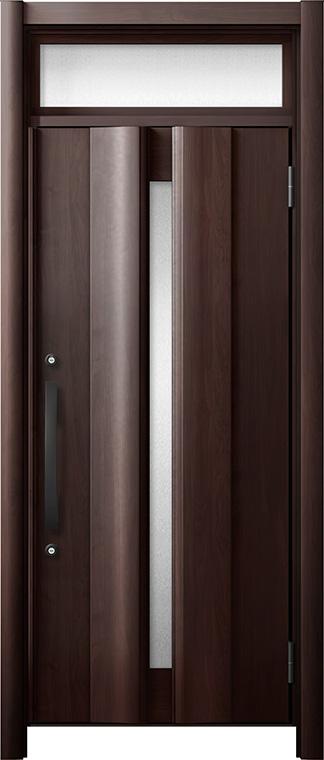 玄関ドア リシェント3 断熱仕様 ランマ付 K4 G12型 片開きドア W:865~977mm × H:2,301~2,600mm LIXIL リクシル TOSTEM トステム