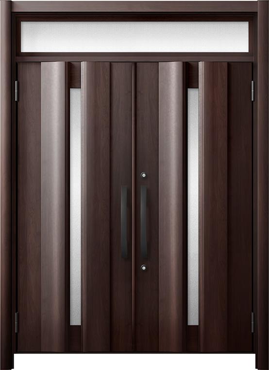 玄関ドア リシェント3 断熱仕様 ランマ付 K4 G12型 両開きドア W:1,501~1,873mm × H:1,974~2,300mm LIXIL リクシル TOSTEM トステム