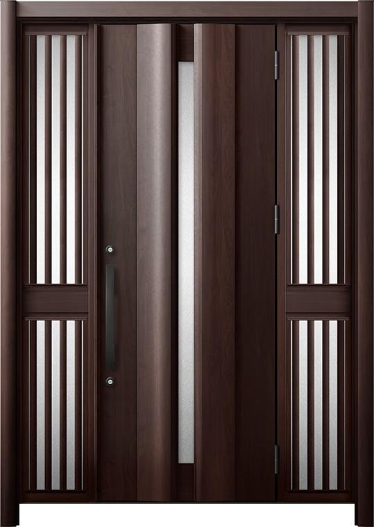 玄関ドア リシェント3 断熱仕様 K2 G12型 両袖飾り中桟付ポスト無 W:1,080~1,695mm × H:2,040~2,439mm リクシル トステム