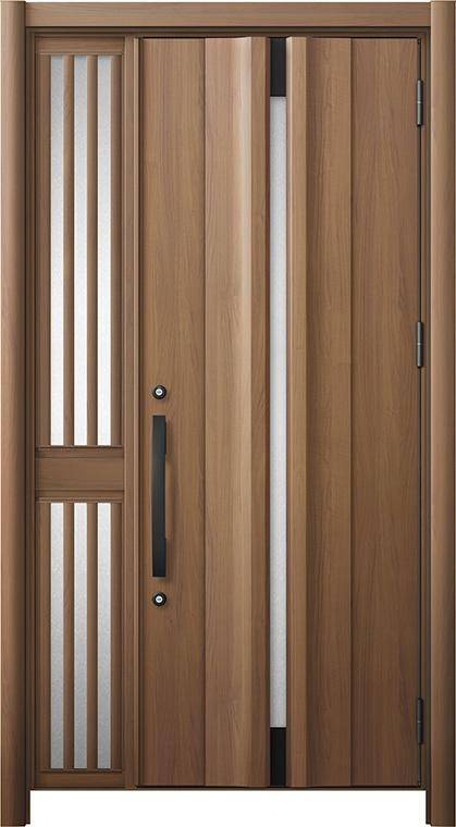 玄関ドア リシェント3 断熱仕様 K2 G13型 片袖飾り中桟付ポスト無ドア W:1,063~1,336mm × H:1,739~2,039mm リクシル トステム