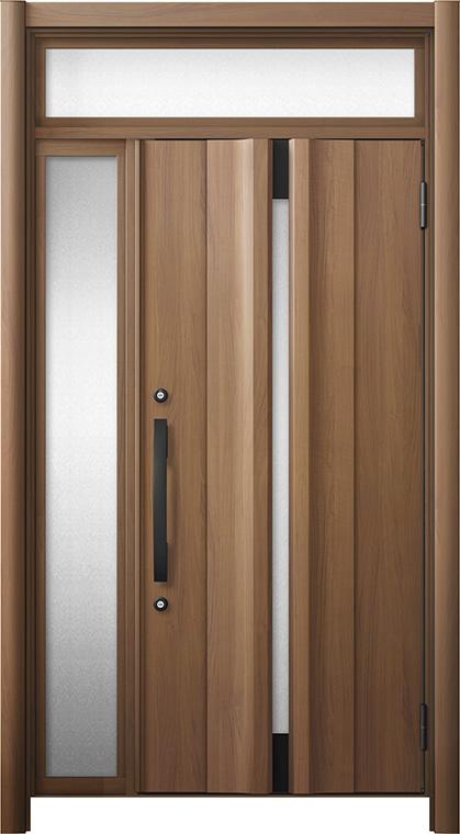玄関ドア リシェント3 断熱仕様 ランマ付 K4 G13型 片袖ドア W:1,101~1,336mm × H:2,301~2,600mm LIXIL リクシル TOSTEM トステム