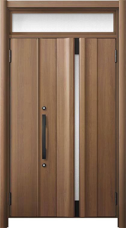 第一ネット リシェント 玄関ドア3 断熱仕様 / 非防火 K2 G13型 木目調 親子ランマ付 特注サイズ W:978~1,480mm × H:1,974~2,600mm カバー工法 LIXIL TOSTEM, コジコジ b6f6318c