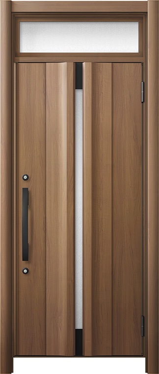 玄関ドア リシェント3 断熱仕様 ランマ付 K4 G13型 片開きドア W:865~977mm × H:2,301~2,600mm LIXIL リクシル TOSTEM トステム