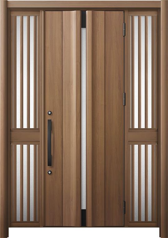 玄関ドア リシェント3 断熱仕様 K2 G13型 両袖飾り中桟付ポスト無 W:1,080~1,695mm × H:1,739~2,039mm リクシル トステム