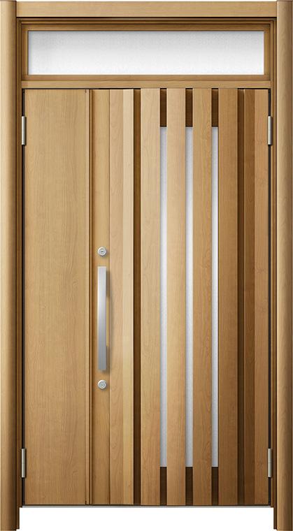 玄関ドア リシェント3 断熱仕様 ランマ付 K4 G14型 親子ドア W:1,142~1,200mm × H:2,040~2,600mm Dw:864mm LIXIL リクシル TOSTEM トステム