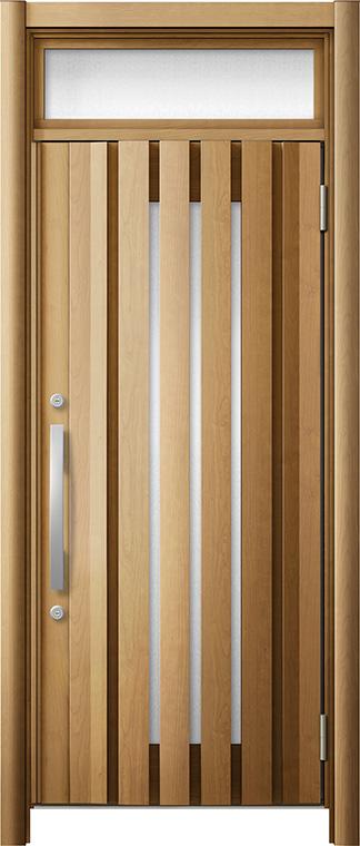 玄関ドア リシェント3 断熱仕様 ランマ付 K4 G14型 片開きドア W:928mm × H:1,974~2,300mm LIXIL リクシル TOSTEM トステム