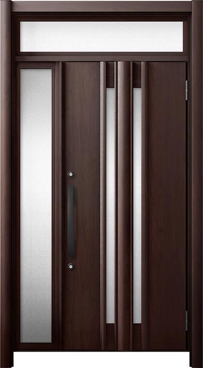 玄関ドア リシェント3 断熱仕様 ランマ付 K4 G15型 片袖ドア W:872~1,100mm × H:1,974~2,300mm LIXIL リクシル TOSTEM トステム