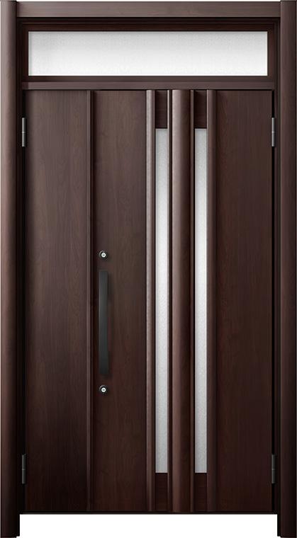 玄関ドア リシェント3 断熱仕様 ランマ付 K4 G15型 親子ドア W:978~1,200mm × H:1,974~2,039mm LIXIL リクシル TOSTEM トステム
