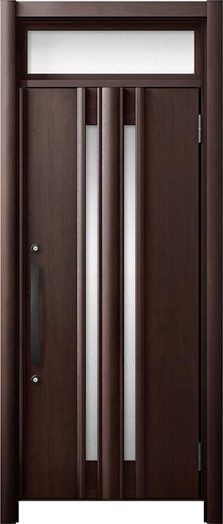 玄関ドア リシェント3 断熱仕様 ランマ付 K2 G15型 片開きドア W:865~977mm × H:2,301~2,600mm LIXIL リクシル TOSTEM トステム