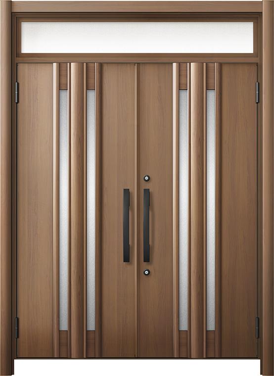 玄関ドア リシェント3 断熱仕様 ランマ付 K4 G15型 両開きドア W:1,501~1,873mm × H:1,974~2,300mm LIXIL リクシル TOSTEM トステム