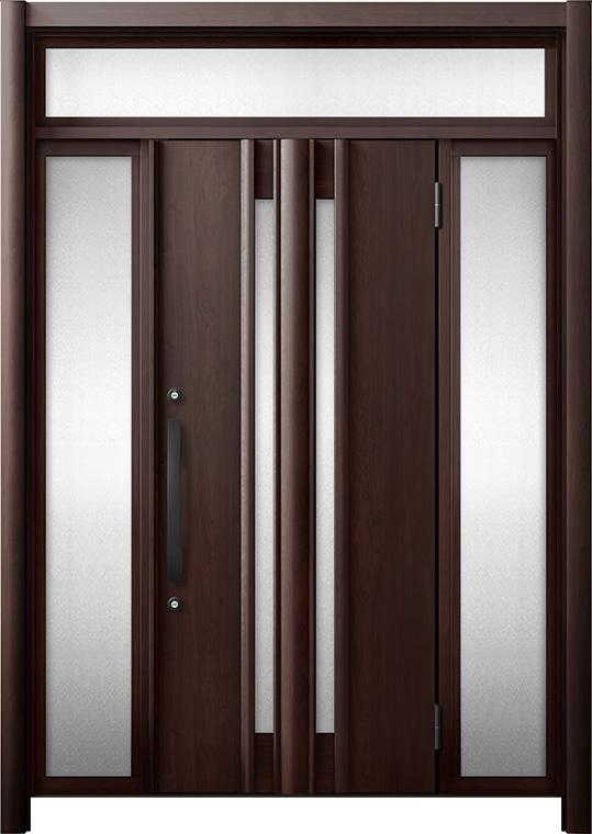 玄関ドア リシェント3 断熱仕様 K4 G15型 両袖ランマ付 W:1,030~1,695mm × H:2,301~2,600mm リクシル トステム