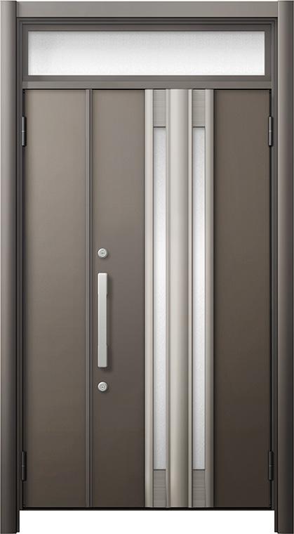 玄関ドア リシェント3 断熱仕様 ランマ付 K2 G77型 親子ドア W:978~1,480mm × H:2,301~2,600mm LIXIL リクシル TOSTEM トステム