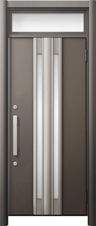 玄関ドア リシェント3 断熱仕様 ランマ付 K2 G77型 片開きドア W:714~977mm × H:2,301~2,600mm LIXIL リクシル TOSTEM トステム