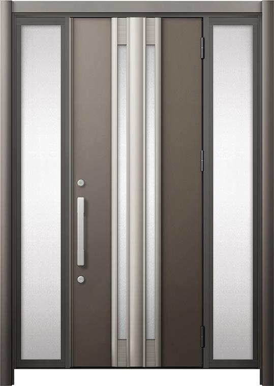 玄関ドア リシェント3 断熱仕様 K2 G77型 両袖 W:1,030~1,695mm × H:2,040~2,439mm リクシル トステム