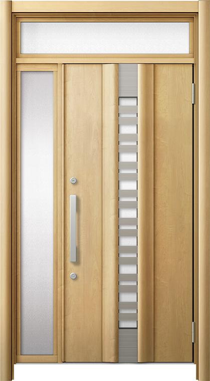 玄関ドア リシェント3 断熱仕様 ランマ付 K4 G82型(採風タイプ) 片袖ドア W:1,101~1,336mm × H:2,301~2,600mm LIXIL リクシル TOSTEM トステム