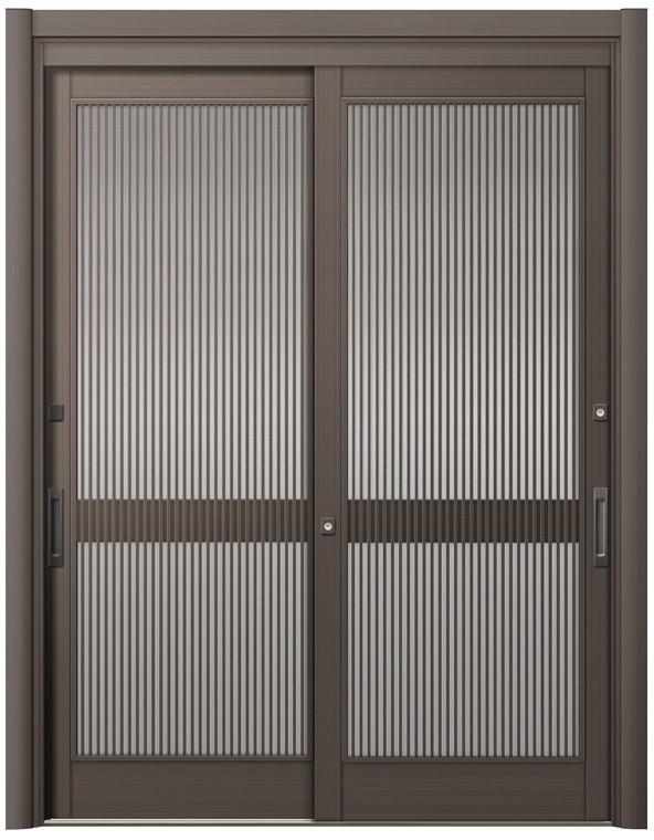 激安先着 リシェント玄関引戸2 2枚建てランマなし SG仕様 S52型 アルミ色 簡易タッチキータイプ 特注サイズ W:1,195~2,604mm × H:2,005~2,300mm LIXIL TOSTEM, アツタムラ 08a1736c