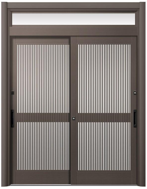 人気定番の リシェント玄関引戸2 2枚建てランマ付き PG仕様 P12型 アルミ色 CAZASキータイプ 特注サイズ W:1,195~2,120mm × H:2,277~2,780mm LIXIL TOSTEM, タカネムラ 9b0de84b