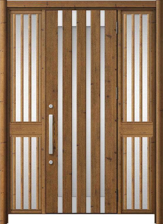 玄関ドア リシェント3 アルミ仕様 ランマ付 M11N型 両袖飾り中桟付ポスト無ドア W:1,150~1,895mm × H:2,301~2,600mm LIXIL リクシル TOSTEM トステム