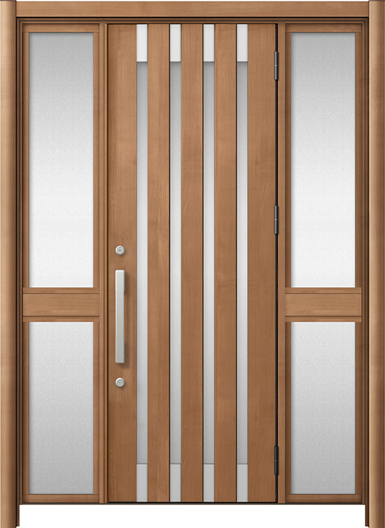 玄関ドア リシェント3 アルミ仕様 M11N型 両袖中桟付ポスト無ドア W:1,150~1,895mm × H:1,738~2,038mm LIXIL リクシル TOSTEM トステム