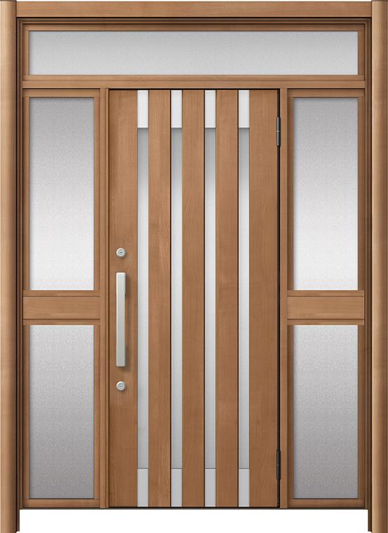 玄関ドア リシェント3 アルミ仕様 ランマ付 M11N型 両袖中桟付ポスト無ドア W:1,150~1,895mm × H:1,973~2,300mm LIXIL リクシル TOSTEM トステム