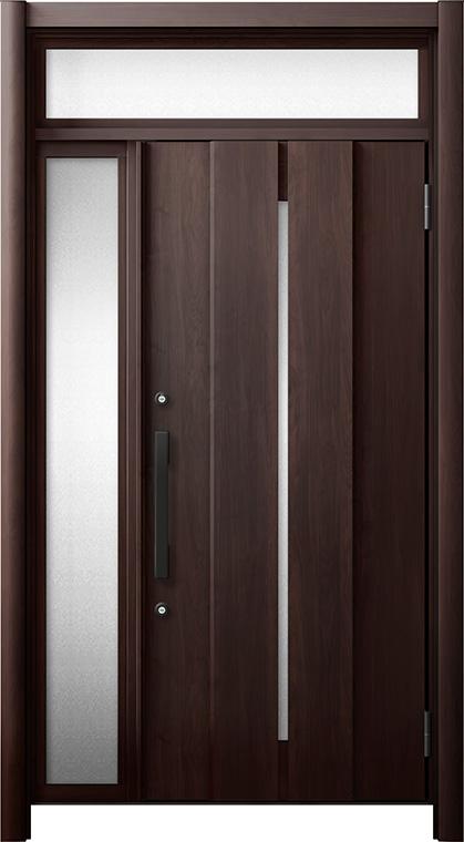 玄関ドア リシェント3 断熱仕様 ランマ付 K4 M12型 片袖ドア W:922~1,100mm × H:1,974~2,300mm LIXIL リクシル TOSTEM トステム