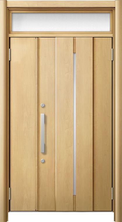 玄関ドア リシェント3 断熱仕様 ランマ付 K4 M12型 親子ドア W:1,201~1,480mm × H:1,974~2,039mm LIXIL リクシル TOSTEM トステム