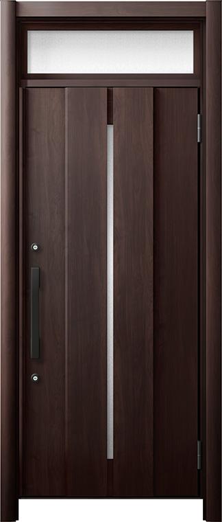 玄関ドア リシェント3 断熱仕様 ランマ付 K4 M12型 片開きドア W:865~977mm × H:2,301~2,600mm LIXIL リクシル TOSTEM トステム
