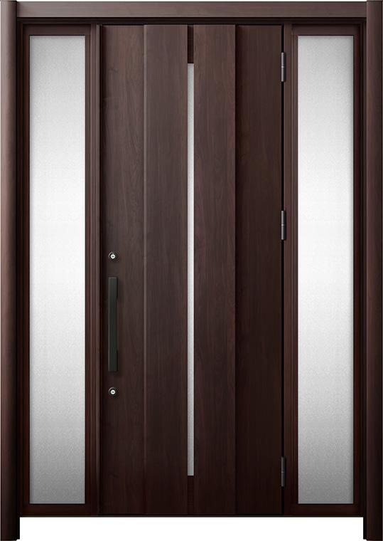 玄関ドア リシェント3 断熱仕様 K4 M12型 両袖 W:1,080~1,695mm × H:2,040~2,439mm リクシル トステム