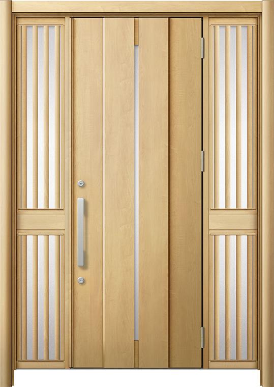 玄関ドア リシェント3 断熱仕様 K2 M12型 両袖飾り中桟付ポスト無 W:1,080~1,695mm × H:2,040~2,439mm リクシル トステム