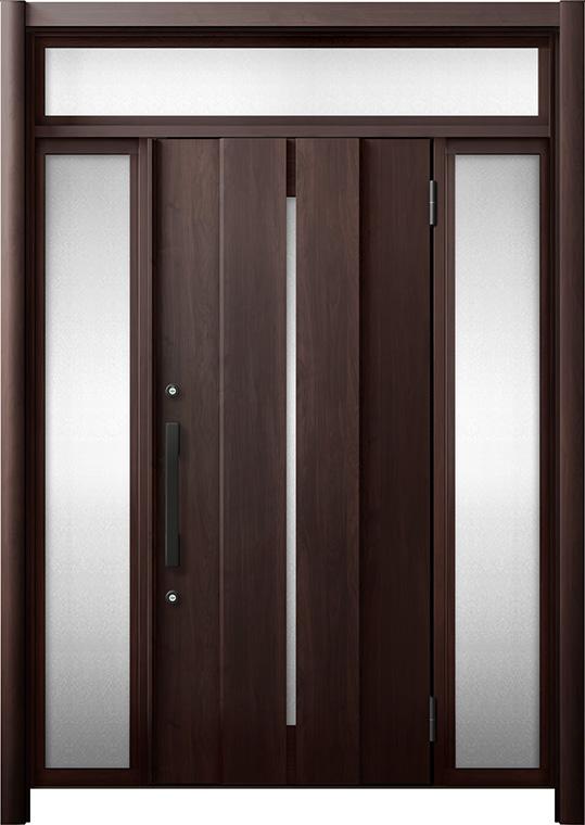 玄関ドア リシェント3 断熱仕様 K4 M12型 両袖ランマ付 W:1,080~1,695mm × H:1,974~2,300mm リクシル トステム