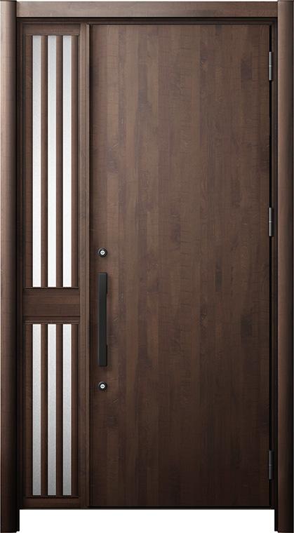 玄関ドア リシェント3 断熱仕様 K2 M17型 片袖飾り中桟付ポスト無ドア W:1,013~1,336mm × H:1,739~2,039mm リクシル トステム