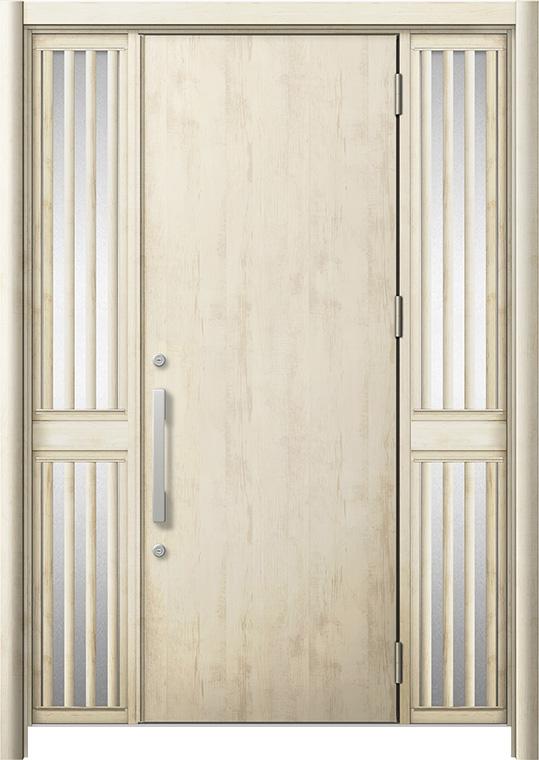 玄関ドア リシェント3 断熱仕様 K4 M17型 両袖飾り中桟付ポスト無 W:1,030~1,695mm × H:2,040~2,439mm リクシル トステム