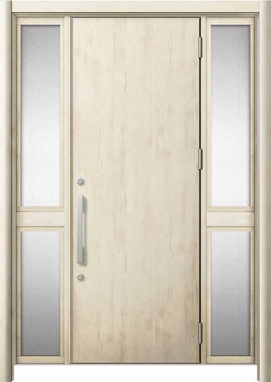 玄関ドア リシェント3 断熱仕様 K2 M17型 両袖中桟付ポスト無 W:1,030~1,695mm × H:1,739~2,039mm リクシル トステム