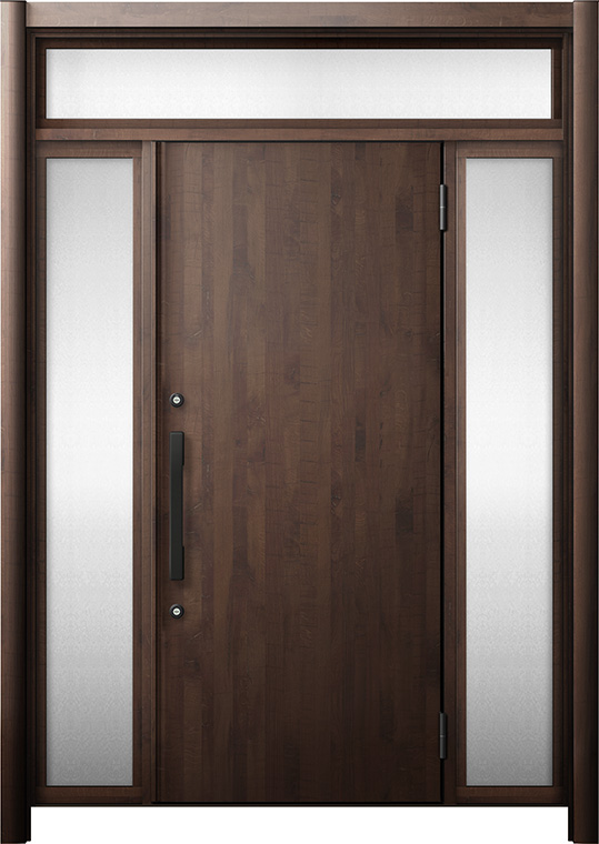 玄関ドア リシェント3 断熱仕様 K2 M17型 両袖ランマ付 W:1,030~1,695mm × H:2,301~2,600mm リクシル トステム