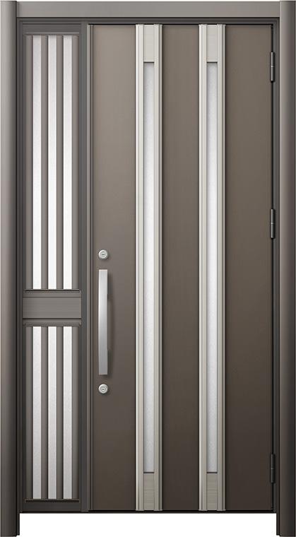 玄関ドア リシェント3 断熱仕様 K2 M24型 片袖飾り中桟付ポスト無ドア W:1,063~1,336mm × H:2,040~2,439mm リクシル トステム