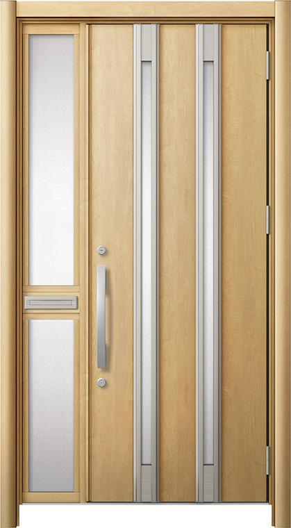 全ての リシェント 玄関ドア3 断熱仕様 / 非防火 K2 M24型 アルミ色 片袖 中桟付ポスト付 特注サイズ W:1,063~1,336mm × H:1,739~2,439mm カバー工法 LIXIL TOSTEM, CHARLY ONLINE STORE 6baec40a